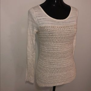 Lucky Brand Knitted Creme Top